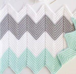 padrões de crochê de cobertor de bebê - padrão de crochê pdf - amorecraftylife.com #baby #crochet #crochetpattern