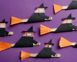 artesanato infantil de bruxa - artesanato infantil de halloween - artesanato infantil de outono #kidscraft #craftsforkids #prescolar