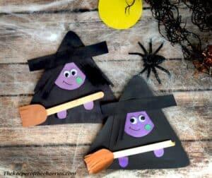 artesanato infantil de bruxa - artesanato infantil de halloween - artesanato infantil de outono #kidscraft #craftsforkids #pré-escola