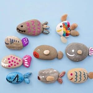 Rock Kid Crafts - pintura rupestre - acraftylife.com #kidscrafts #craftsforkids #diy