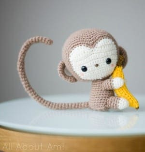 padrões de crochê de macaco- padrão de crochê de brinquedo- amigurumi PDF acraftylife.com #crochet #crochetpattern #diy