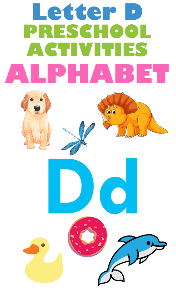 Letter D Activities - Preschool kid craft - alphabet math recipe amorecraftylife.com #preschool #craftsforkids #kidscrafts