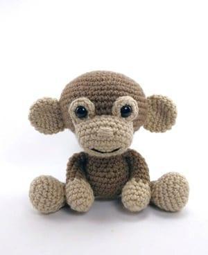 patrones de crochet de mono- patrón de ganchillo de juguete- amigurumi PDF acraftylife.com #crochet #crochetpattern #diy