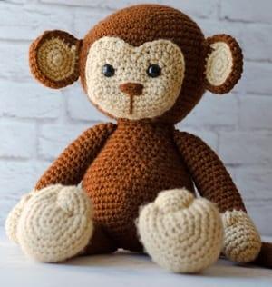 patrones de crochet de mono- patrón de crochet de juguete- amigurumi PDF animal -acraftylife.com #crochet #crochetpattern #diy