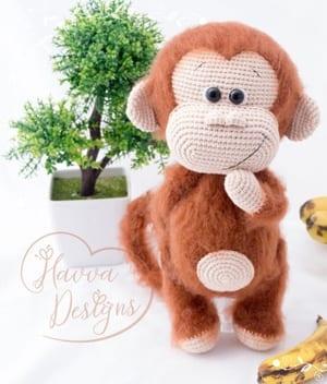 patrones de ganchillo de mono- patrón de ganchillo de juguete- amigurumi PDF acraftylife.com #crochet #crochetpattern #diy