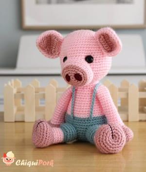 crochet piglet pattern- crochet pattern pdf - amigurumi acraftylife.com #crochet #crochetpattern