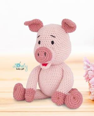 patrón de cochinillo de ganchillo - patrón de ganchillo de cerdo de peluche pdf - amigurumi acraftylife.com
