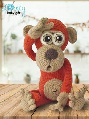 padrões de crochê de macaco- padrão de crochê de brinquedo- amigurumi PDF animal -acraftylife.com #crochet #crochetpattern #diy
