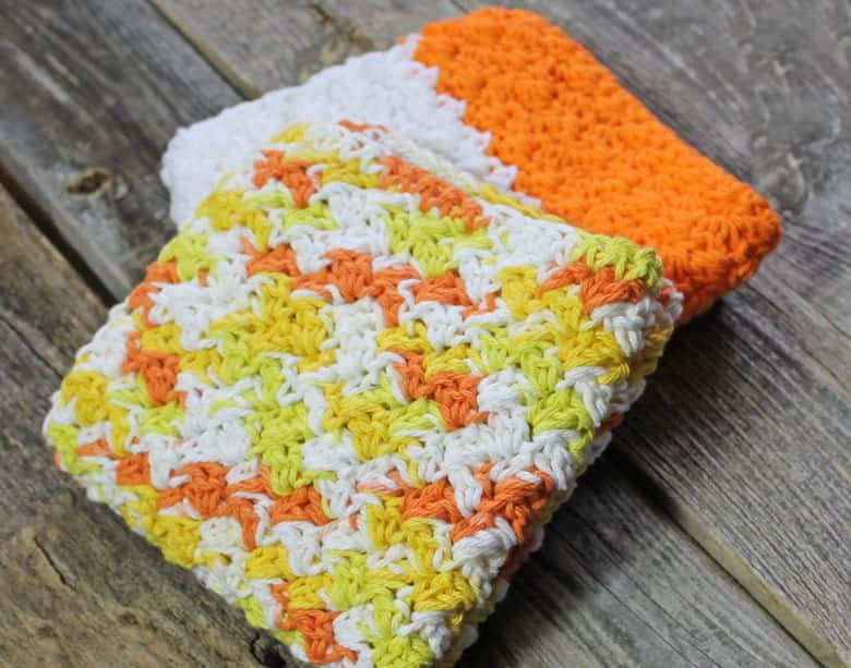 patrón de paño de cocina de crochet para imprimir gratis -amorecraftylife.com #crochet #crochetpattern #diy #freecrochetpattern