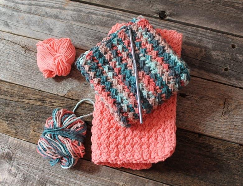 patrón de paño de cocina de crochet de punto crujiente imprimible gratis -amorecraftylife.com #crochet #crochetpattern #diy #freecrochetpattern