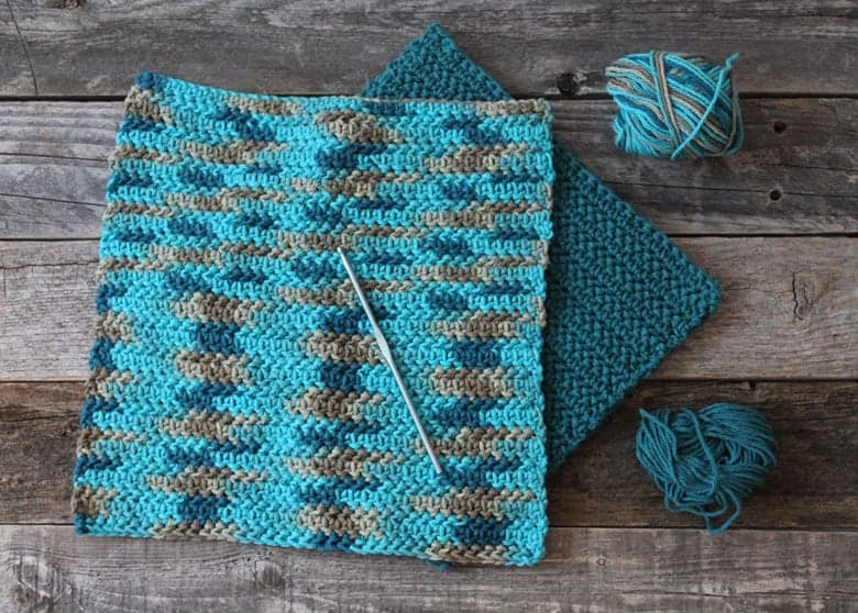 patrón de paño de cocina de medio crochet doble en espiga imprimible gratis -amorecraftylife.com #crochet #crochetpattern #diy #freecrochetpattern