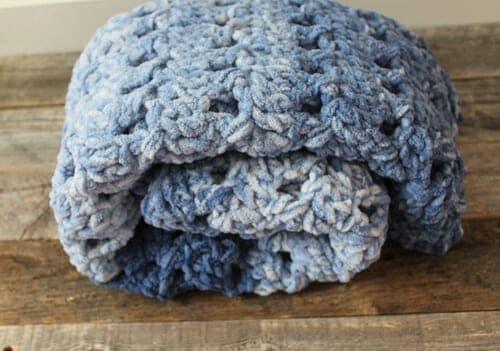 crossed double crochet baby blanket pattern free 7