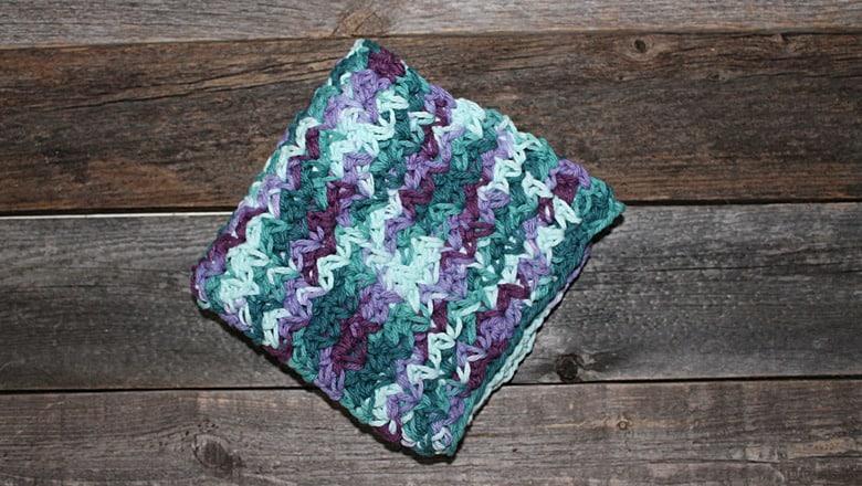 patrón de paño de cocina de ganchillo de punto de araña para imprimir gratis -amorecraftylife.com #crochet #crochetpattern #diy #freecrochetpattern