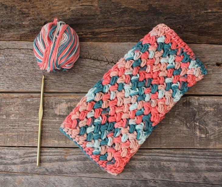 patrón de paño de cocina de ganchillo de punto de frijol imprimible gratis -amorecraftylife.com #crochet #crochetpattern #diy #freecrochetpattern