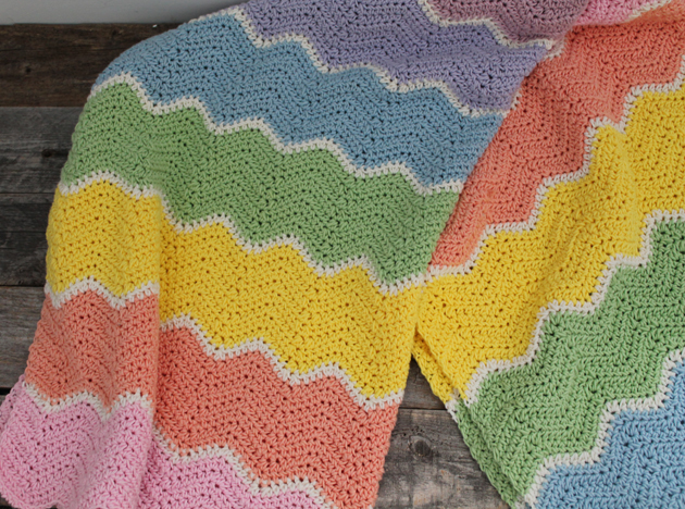sherbet arco-íris cobertor bebê padrão de crochê grátis - padrão de crochê para impressão grátis - amorecrafty.com #crochet #crochetpattern #freecrochetpattern