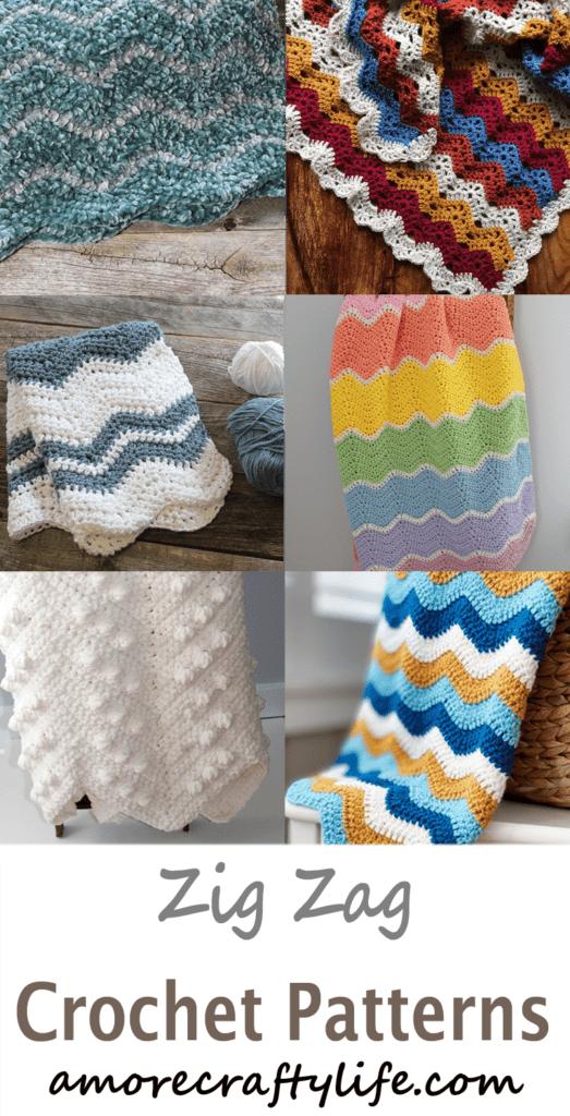 padrão de crochê zig zag -amorecraftylife.com #crochet #crochetpattern